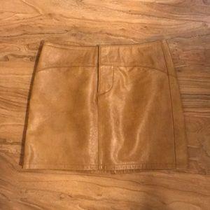 Dresses & Skirts - Gap Leather Mini Skirt